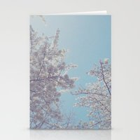 sakura Stationery Cards featuring Sakura by Luke J