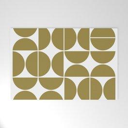 Mid Century Modern Geometric 04 Flat Gold Welcome Mat
