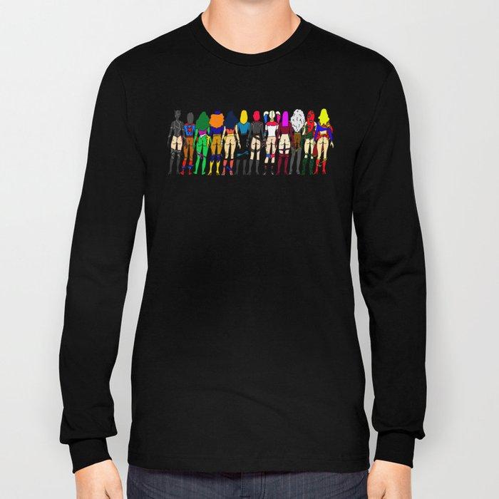 Superhero Butts - Girls - Row Version - Superheroine Long Sleeve T-shirt