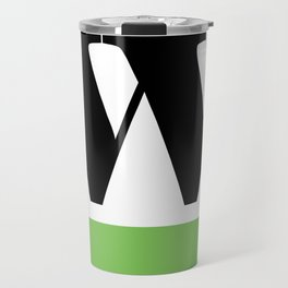 Monogram Letter W (color block) Travel Mug