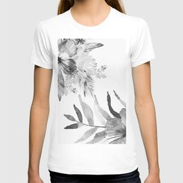 Vintage tropical flowers T-shirt