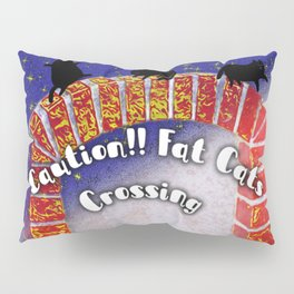 Fat Cats On the Archway Pillow Sham
