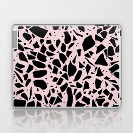 Terrazzo Spot Black on Blush Laptop & iPad Skin
