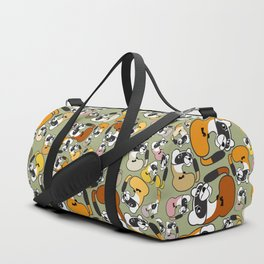 Black Footed Ferret pattern Duffle Bag