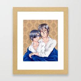 Cuddling Framed Art Print