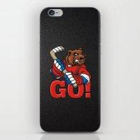 hockey iPhone & iPod Skins featuring HOCKEY by solomnikov