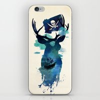 hook iPhone & iPod Skins featuring Captain Hook by Robert Farkas