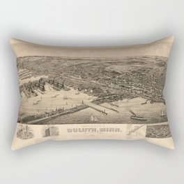 Map Of Duluth 1893 Rectangular Pillow