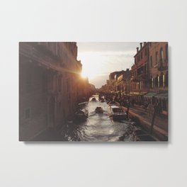 BOAT - STREETS - RIVER - TOWN - LIFE - CULTURE - PHOTOGRAPHY Metal Print