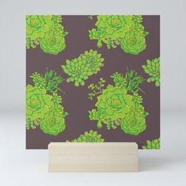 Succulent Pattern Mini Art Print