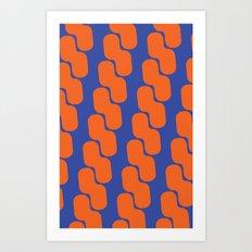 Orange and Blue Chain Art Print