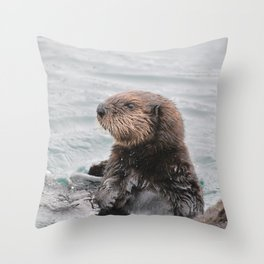 Otterly adorable Throw Pillow