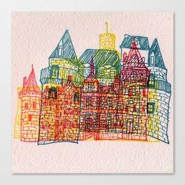 Letterpress Castle 4 Canvas Print