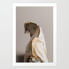 Mongrel Grey Art Print