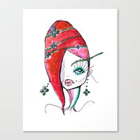 redhead Canvas Prints featuring Redhead by Hannah Grunden