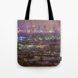 San Diego Skyline seen from Point Loma Tote Bag