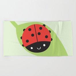 Kawaii Ladybird Beach Towel