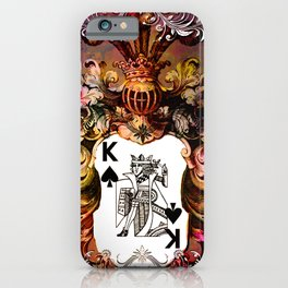 Poker King Spades colored iPhone Case