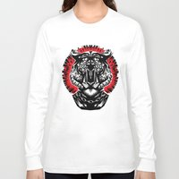 tiger Long Sleeve T-shirts featuring Tiger by Ali GULEC