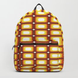 That 70's Look Seventies Inspired Squares Backpack