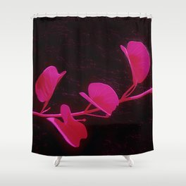 Japanese Flower: Minimalist Art Shower Curtain