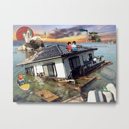 Beyond the Sea - Spirited Away / Ponyo Tsunami Series Metal Print