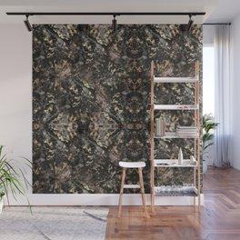 Gold Vein Black Marble Design Wall Mural