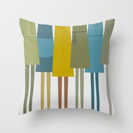 Pretty dresses Throw Pillow