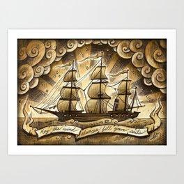 Sailing Winds Art Print