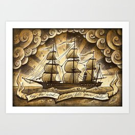Sailing Winds Art Print