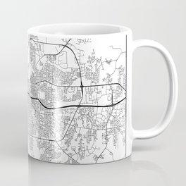Minimal City Maps - Map Of Montgomery, Alabama, United States Coffee Mug