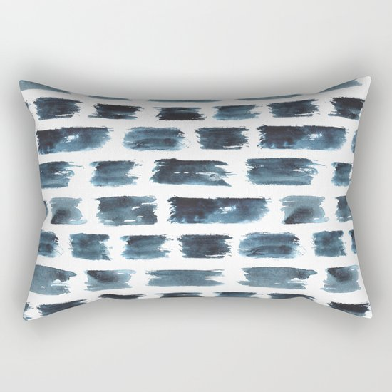 Indigo brushstrokes Rectangular Pillow