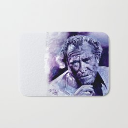 BUKOWSKI . original painting Bath Mat