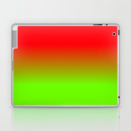 Neon Red and Neon Green Ombré  Shade Color Fade Laptop & iPad Skin