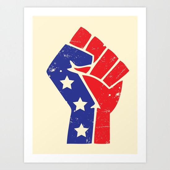 Revoltion Party Fist Art Print