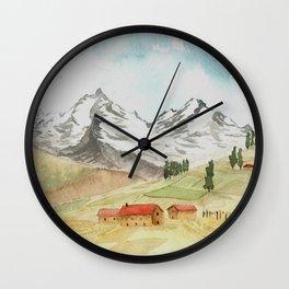A Highland Village Wall Clock