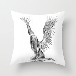 Lonely Angel Throw Pillow