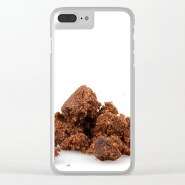 Brown Sugar On White Background Clear iPhone Case