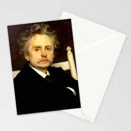 Edvard Grieg (1843 – 1907) portrait by Eilif Peterssen in 1891 Stationery Cards