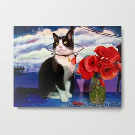 Orazio and the poppies Metal Print