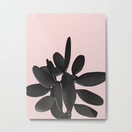Black Blush Cactus #2 #plant #decor #art #society6 Metal Print