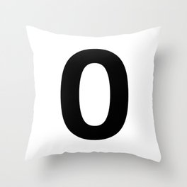 Number 0 (Black & White) Throw Pillow