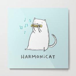Harmonicat Metal Print
