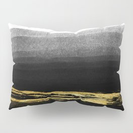 Black & Gold Stripes on White - Mix & Match with Simplicty of life Pillow Sham
