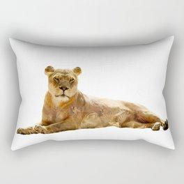 Lion Double Exposure Rectangular Pillow