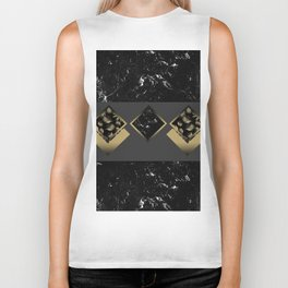 Black Marble Meets Tropical Palms Geo #1 #decor #art #society6 Biker Tank