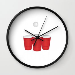 Funny Any Hole Is My Goal Frat Beer Pong Beirut Wall Clock