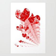 Heart - Red Art Print