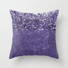Ultra Violet Glitter Meets Ultra Violet Concrete #1 #decor #art #society6 Throw Pillow