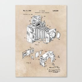 patent art 1966 Bing photographic camera accessory Canvas Print